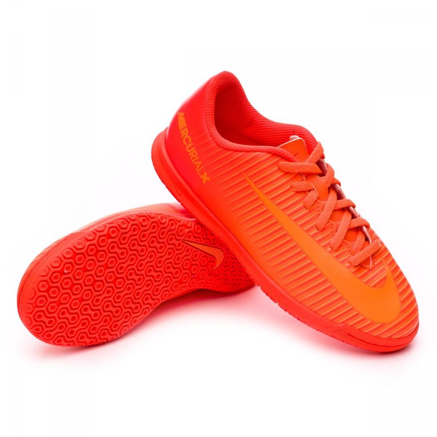 Futsal Boot Nike Jr MercurialX Vortex III IC Total orange-Bright  citrus-Hyper crimson - Football store Fútbol Emotion 87e5060f8bf89