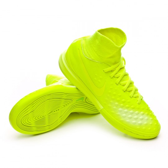 Zapatilla de fútbol sala  Nike jr MagistaX Proximo II IC Volt-Volt ice-Barely volt