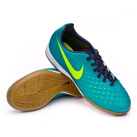 Zapatilla de fútbol sala  Nike jr MagistaX Opus II IC Rio teal-Volt-Obsidian-Clear jade