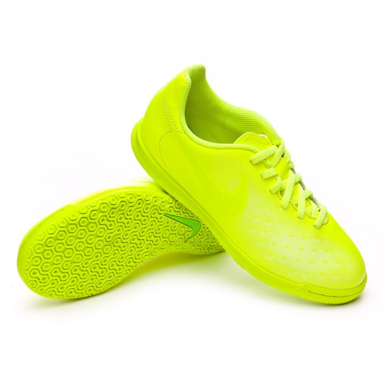 Zapatilla de fútbol sala  Nike jr MagistaX Ola II IC Volt-Barely volt-Electric green