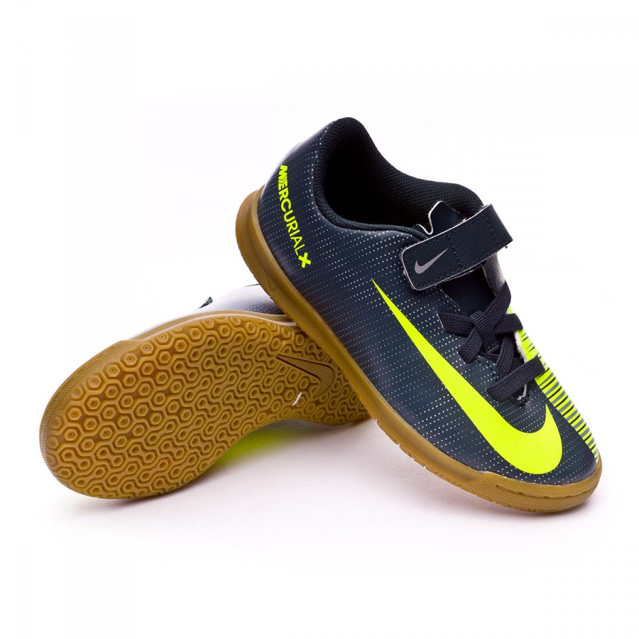 375b1b53e25a3 Zapatilla Nike MercurialX Vortex III Velcro CR7 IC Niño  Seaweed-Volt-Hasta-White - Tienda de fútbol Fútbol Emotion