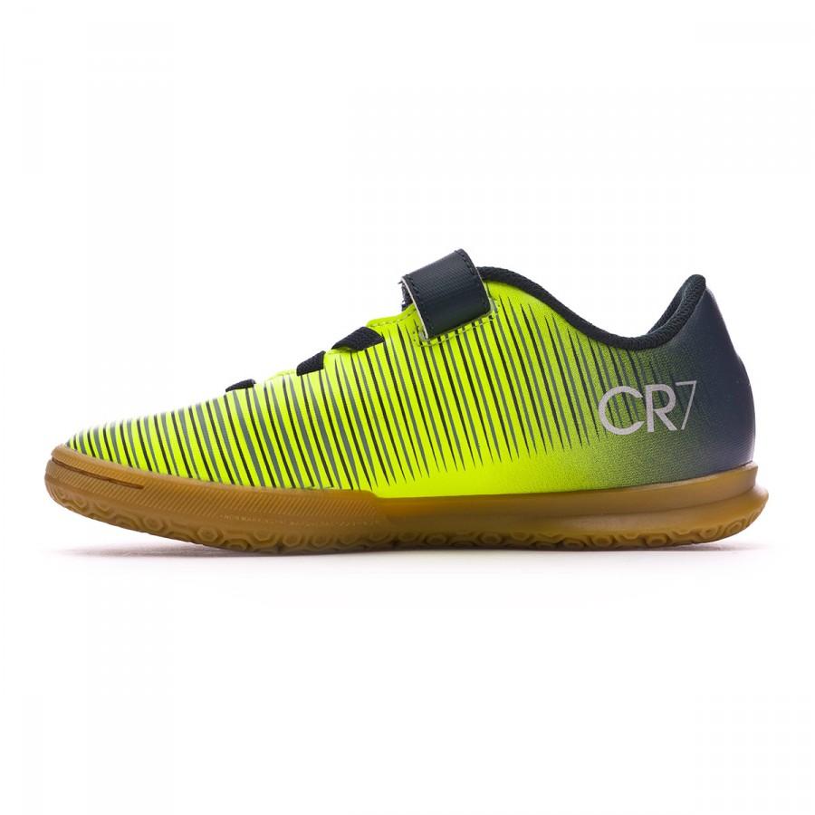 11894aacd8a28 Zapatilla Nike MercurialX Vortex III Velcro CR7 IC Niño  Seaweed-Volt-Hasta-White - Tienda de fútbol Fútbol Emotion