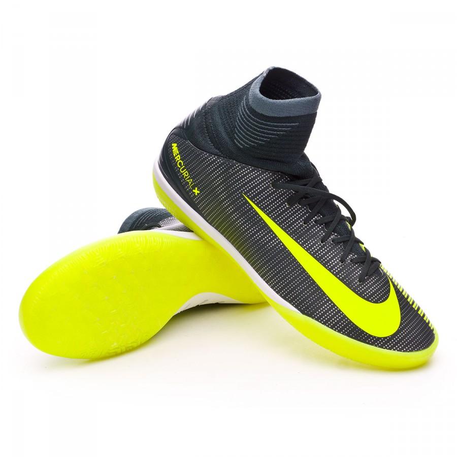 76e829b417fc6 Zapatilla Nike MercurialX Proximo II CR7 IC Niño Seaweed-Volt-Hasta-White -  Tienda de fútbol Fútbol Emotion