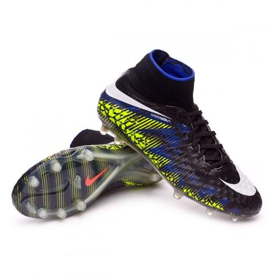 Chaussure  Nike HyperVenom Phantom II ACC FG Black-White-Volt-Paramount blue