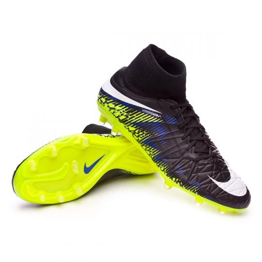 Chaussure  Nike HyperVenom Phatal II DF FG Black-White-Volt-Paramount blue