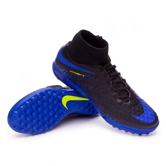 Chaussure de futsal  Nike HyperVenomX Proximo Turf Black-Paramount blue-Volt-Dark grey