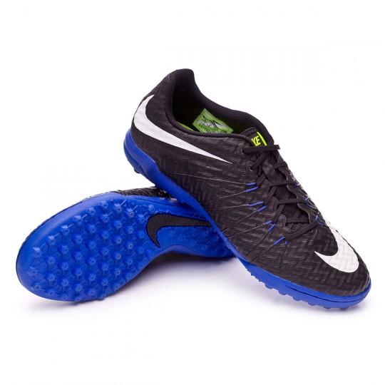 Chaussure de futsal  Nike HyperVenomX Finale Turf Black-White-Paramount blue-Volt