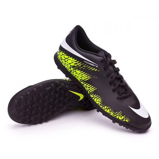 Chaussure de futsal  Nike HyperVenomX Phade II Turf Black-White-Volt-Paramount blue