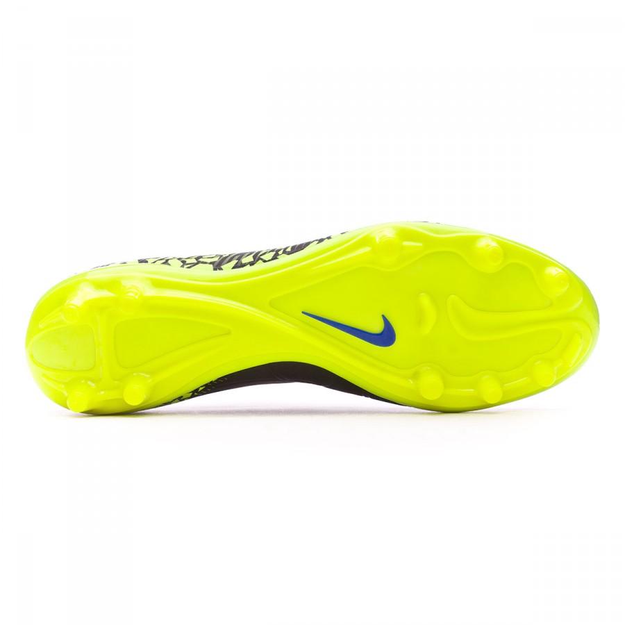 d0ddc4728 ... amazon bota de fútbol nike hypervenom phelon ii fg black white volt  paramount blue soloporteros es