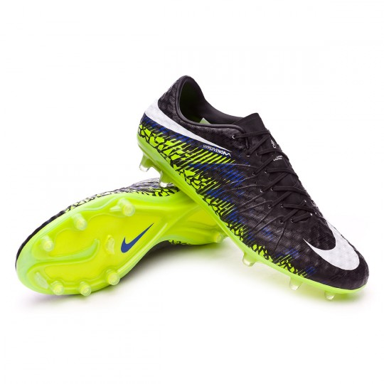 Chaussure  Nike HyperVenom Phinish FG Black-White-Volt-Paramount blue