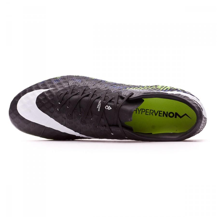 buy popular 35db3 522e6 Football Boots Nike HyperVenom Phinish FG Black-White-Volt-Paramount blue -  Football store Fútbol Emotion
