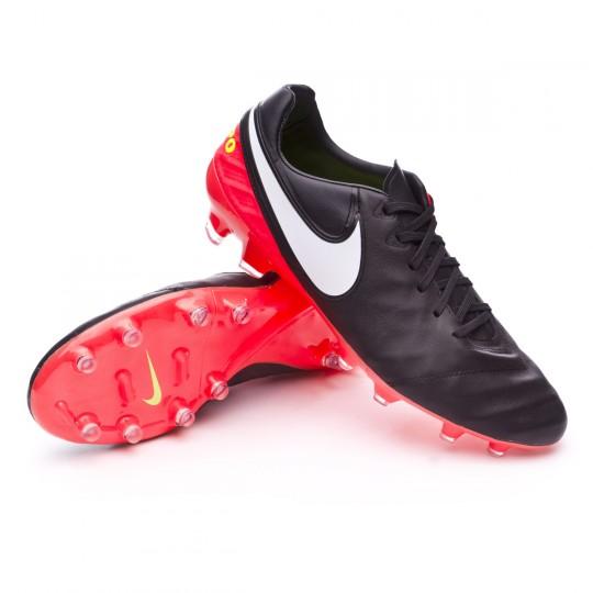 Chuteira  Nike Tiempo Legacy II FG Black-White-Hyper orange-Volt