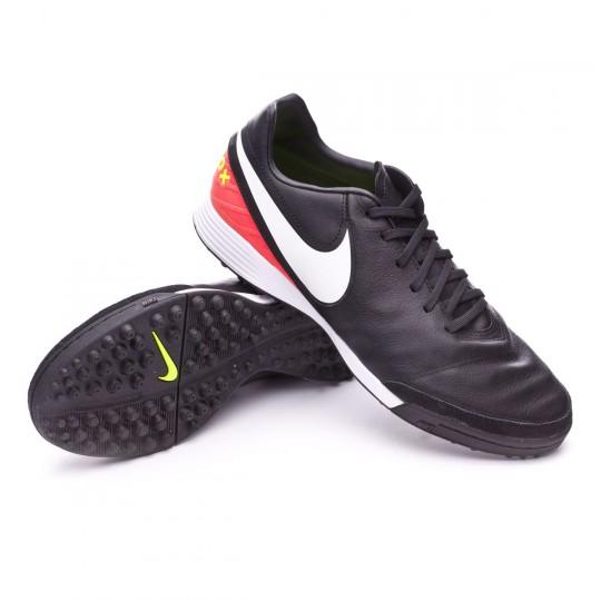 Zapatilla de fútbol sala  Nike TiempoX Mystic V Turf Black-White-Hyper orange-Volt