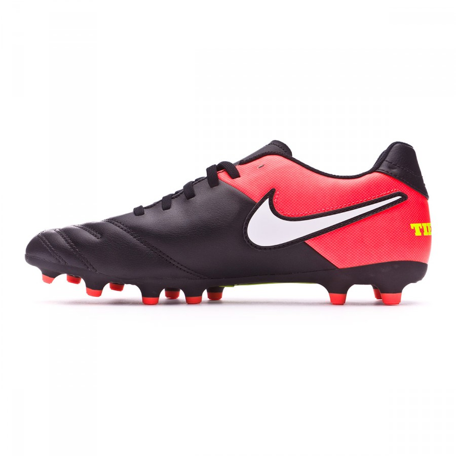 c482346cb40b2 Football Boots Nike Tiempo Rio III FG Black-White-Hyper orange-Volt -  Tienda de fútbol Fútbol Emotion