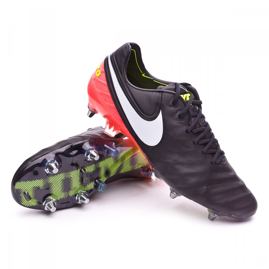 huge discount e7ada 9ac82 Nike Tiempo Legend VI ACC SG-Pro Football Boots. Black-White-Hyper orange-Volt  ...