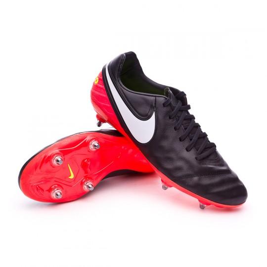 Chuteira  Nike Tiempo Legacy II SG Black-White-Hyper orange-Volt