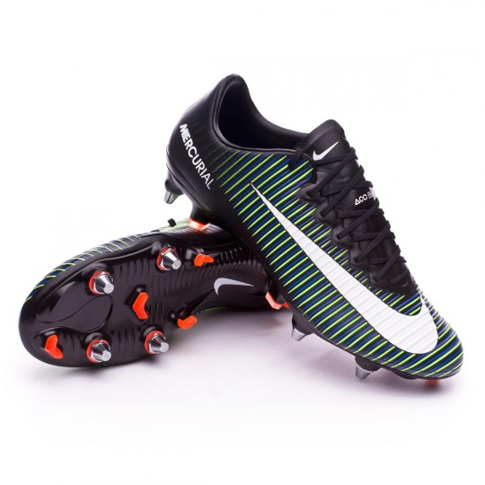 Boot  Nike Mercurial Vapor XI ACC SG-Pro Black-White-Electric green
