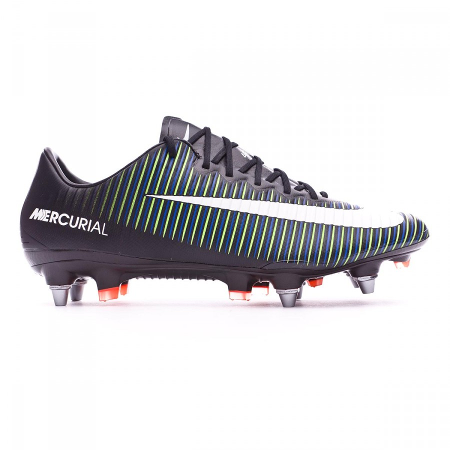 reputable site 281a1 47871 ... spain bota de fútbol nike mercurial vapor xi acc sg pro black white  electric green soloporteros