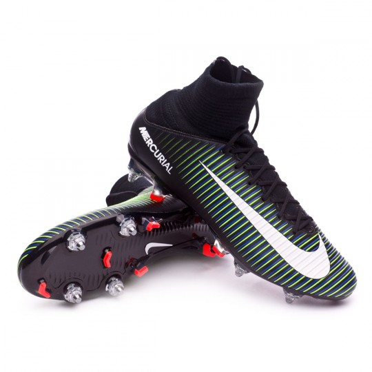 Bota  Nike Mercurial Veloce III DF SG-Pro Black-White-Electric green