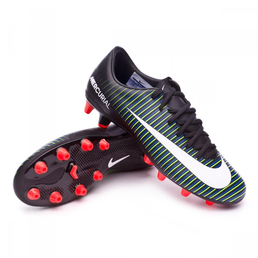 Boot Nike Mercurial Victory VI AG-Pro Black-White-Electric green ... 26a491a15fee5