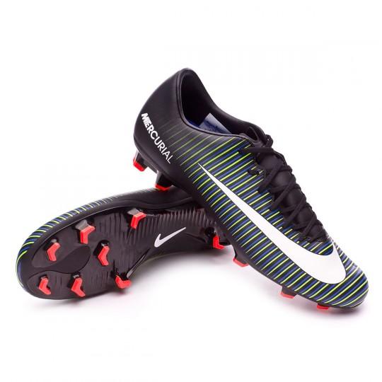 Bota  Nike Mercurial Victory VI FG Black-White-Electric green