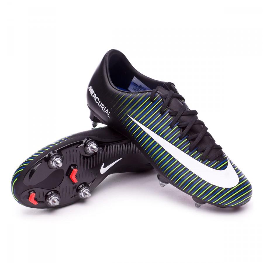 3dcfaafd8 Nike Mercurial Victory VI SG Football Boots. Black-White-Electric green ...
