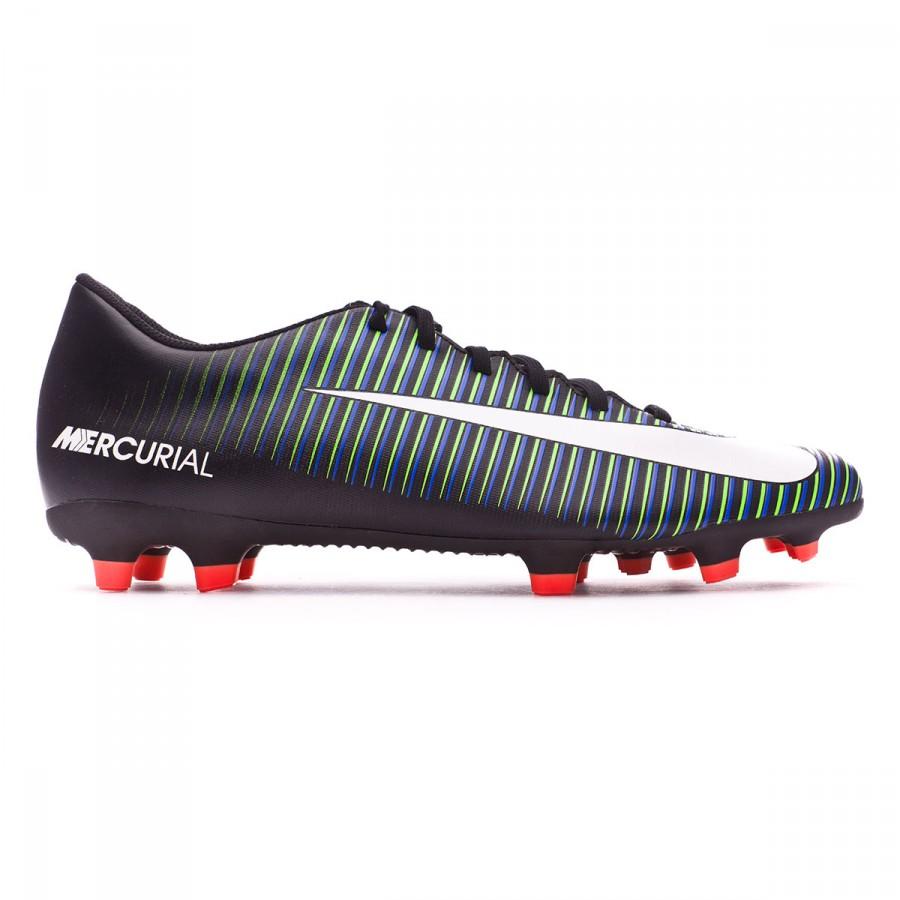 0774eb6339 Chuteira Nike Mercurial Vortex III FG Black-White-Paramount blue - Loja de  futebol Fútbol Emotion
