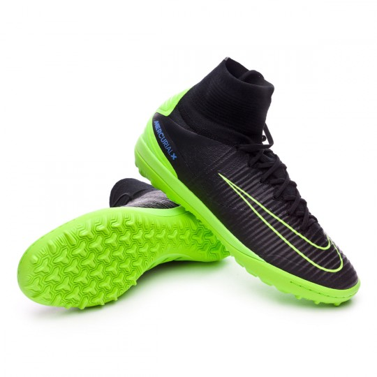 Zapatilla de fútbol sala  Nike MercurialX Proximo II Turf Black-White-Electric green-Paramount blue