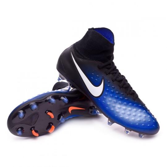 Chaussure  Nike Magista Orden II FG Black-White-Paramount blue-Aluminum