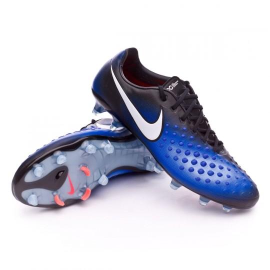 23a7435b0a28 ... switzerland boot nike magista opus ii acc fg black white paramount blue  aluminum football store fútbol