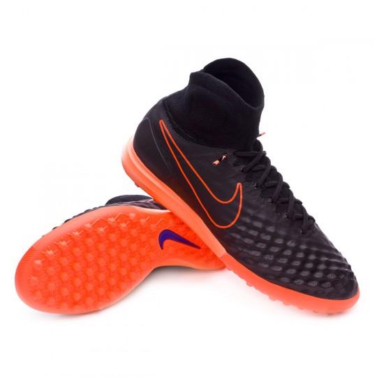 Chaussure de futsal  Nike MagistaX Proximo II Turf Black-Hyper orange-Paramount blue