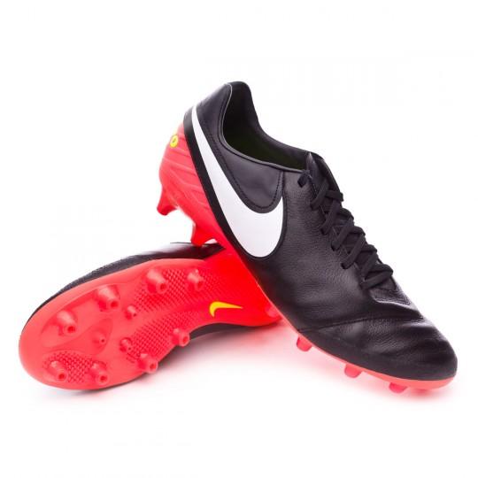 Chaussure  Nike Tiempo Mystic V AG-Pro Black-White-Hyper orange-Volt