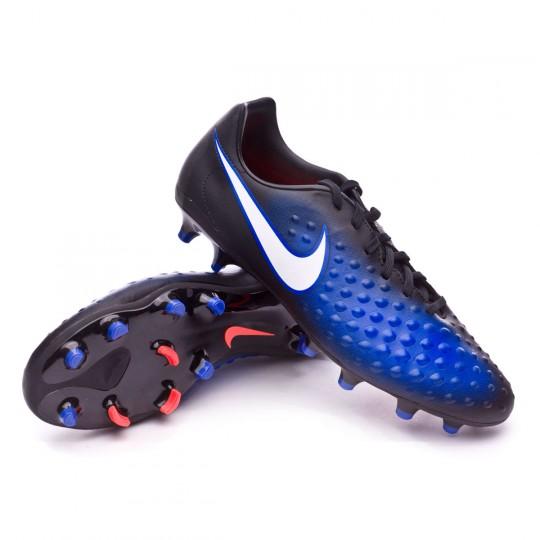 Chaussure  Nike Magista Onda II FG Black-White-Paramount blue-Blue tint