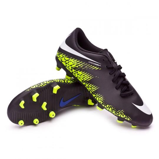Chaussure  Nike Hypervenom Phade II FG Black-White-Volt-Paramount blue