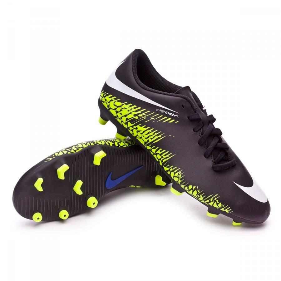 879cb231538 Football Boots Nike Hypervenom Phade II FG Black-White-Volt ...
