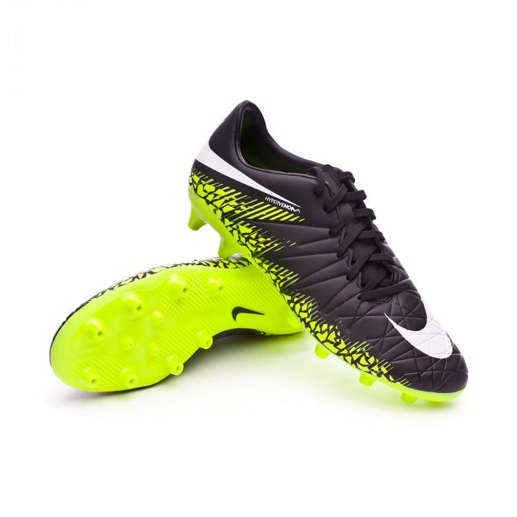 dfbea3b7a66b8 Football Boots Nike Hypervenom Phelon II AG-Pro Black-White-Volt ...