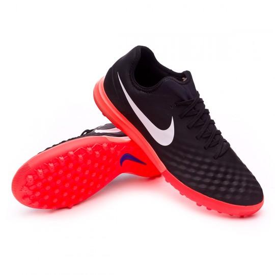 Zapatilla de fútbol sala  Nike MagistaX Finale II Turf Black-White-Hyper orange-Paramount blue