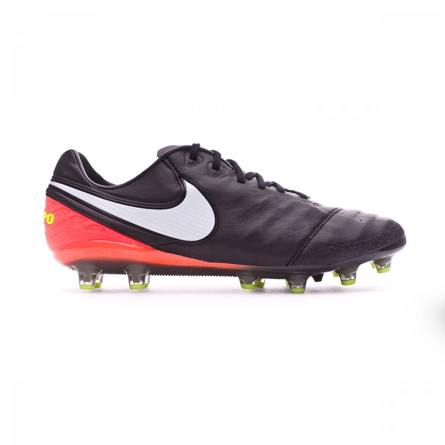size 40 c682d 11381 ... usa bota de fútbol nike tiempo legend vi acc ag pro black white hyper  orange volt