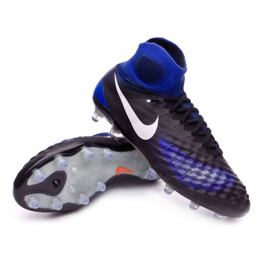 Chaussure  Nike Magista Obra II ACC AG-Pro Black-White-Paramount blue-Aluminum