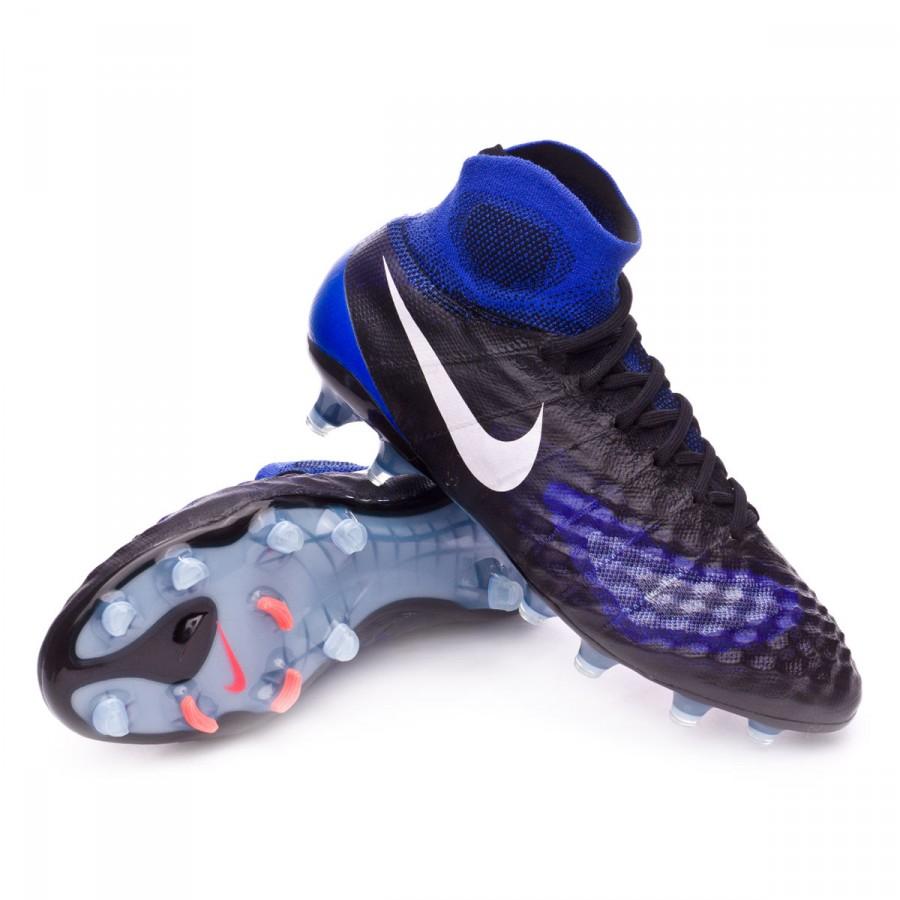 Bota de fútbol Nike Magista Obra II ACC FG Black-White-Paramount  blue-Aluminum - Soloporteros es ahora Fútbol Emotion