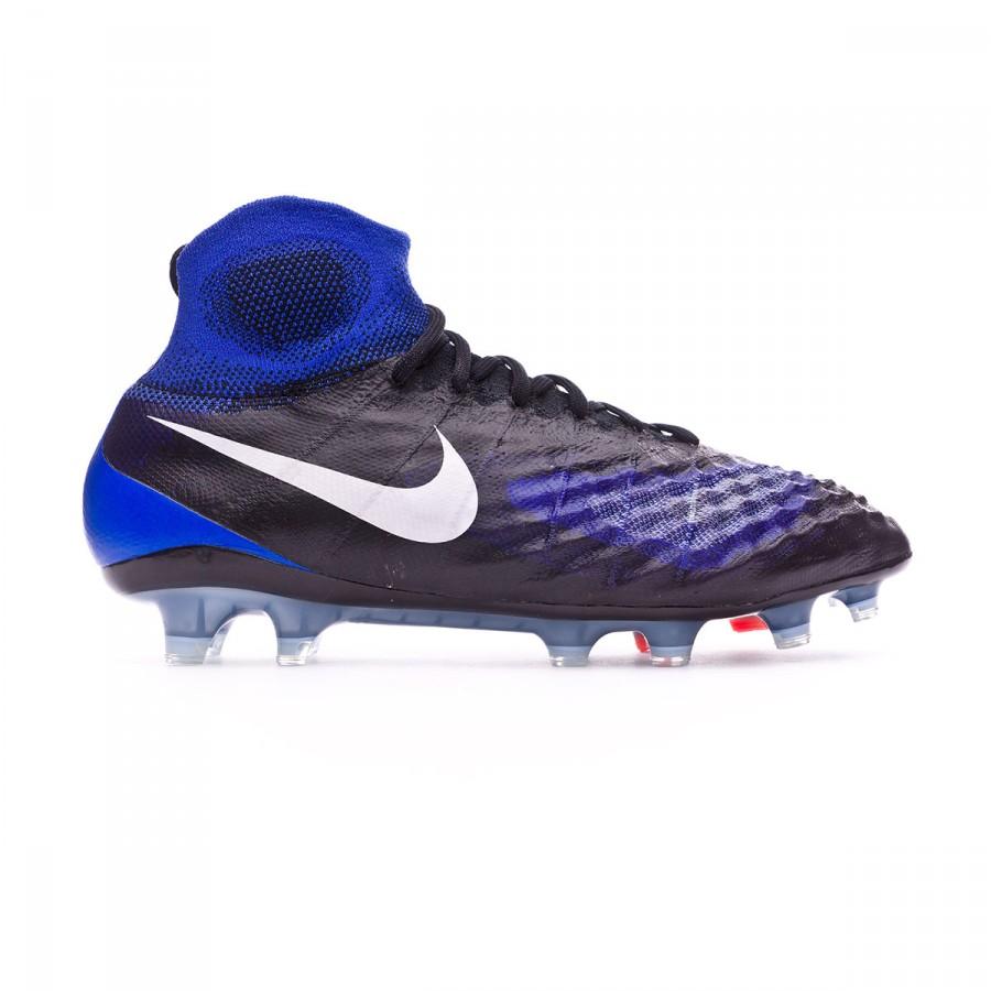 f1a1eac115d Boot Nike Magista Obra II ACC FG Black-White-Paramount blue-Aluminum -  Tienda de fútbol Fútbol Emotion