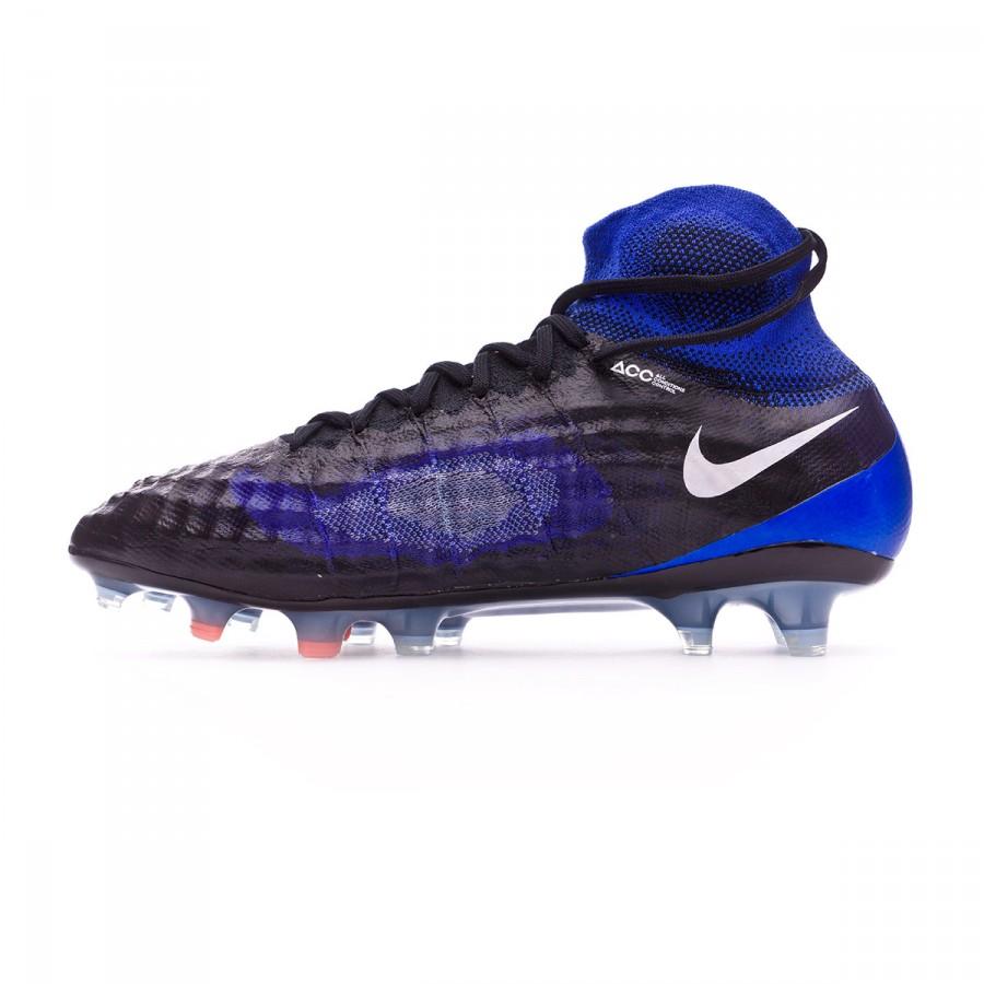 1d0be55953e ... boot nike magista obra ii acc fg black white paramount blue aluminum tienda  de fútbol fútbol
