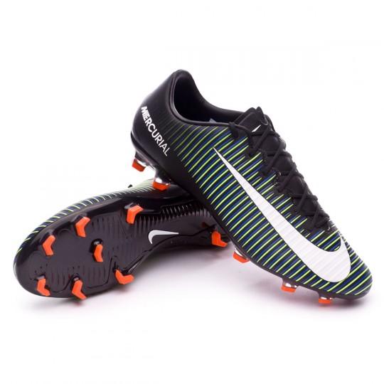 Chaussure  Nike Mercurial Veloce III FG Black-White-Electric green