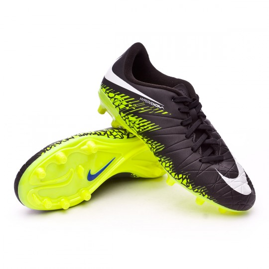 Bota  Nike jr HyperVenom Phelon II FG Black-White-Volt-Paramount blue