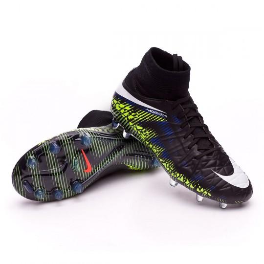 Bota  Nike jr HyperVenom Phantom II ACC FG Black-White-Volt-Paramount blue