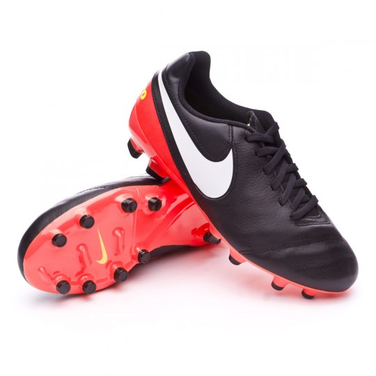 Bota  Nike jr Tiempo Legend ACC VI FG Black-White-Hyper orange-Volt