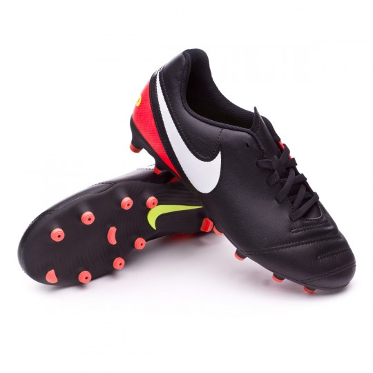 Boot Nike Jr Tiempo Rio III FG Black-White-Hyper orange-Volt - Soloporteros  es ahora Fútbol Emotion fb66140497133