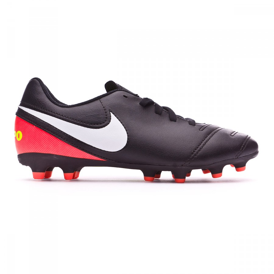 93ef1b5d7beac Bota de fútbol Nike Tiempo Rio III FG Niño Black-White-Hyper orange-Volt -  Tienda de fútbol Fútbol Emotion