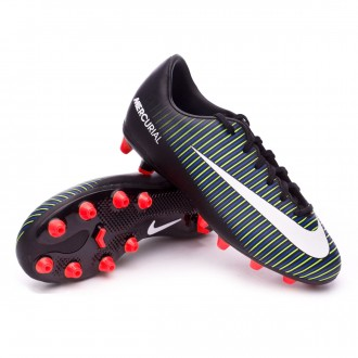 Bota  Nike Mercurial Vapor XI AG Niño Black-White-Electric green