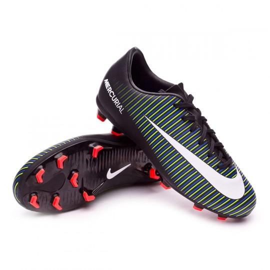 Bota  Nike jr Mercurial Vapor XI FG Black-White-Electric green